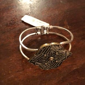 New York and Company silver and gold flower cuff